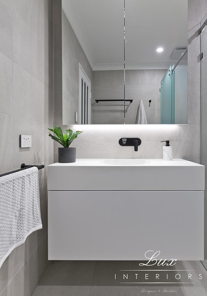 floating vanity in bathroom renovation