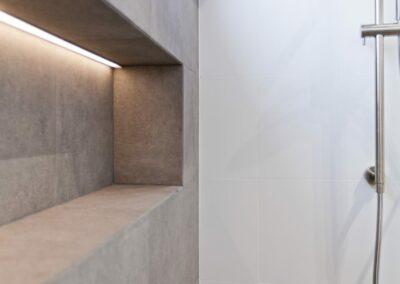 Shower shelving and lighting