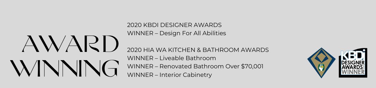 2020 HIA and KBDI Award Winner for 4 Awards.