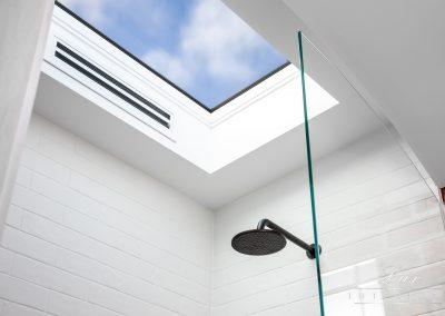 Skylight above shower