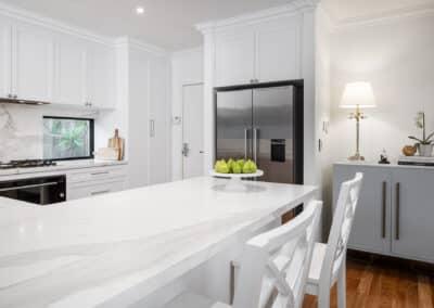 Joondanna Hamptons Kitchen fridge and benchtop