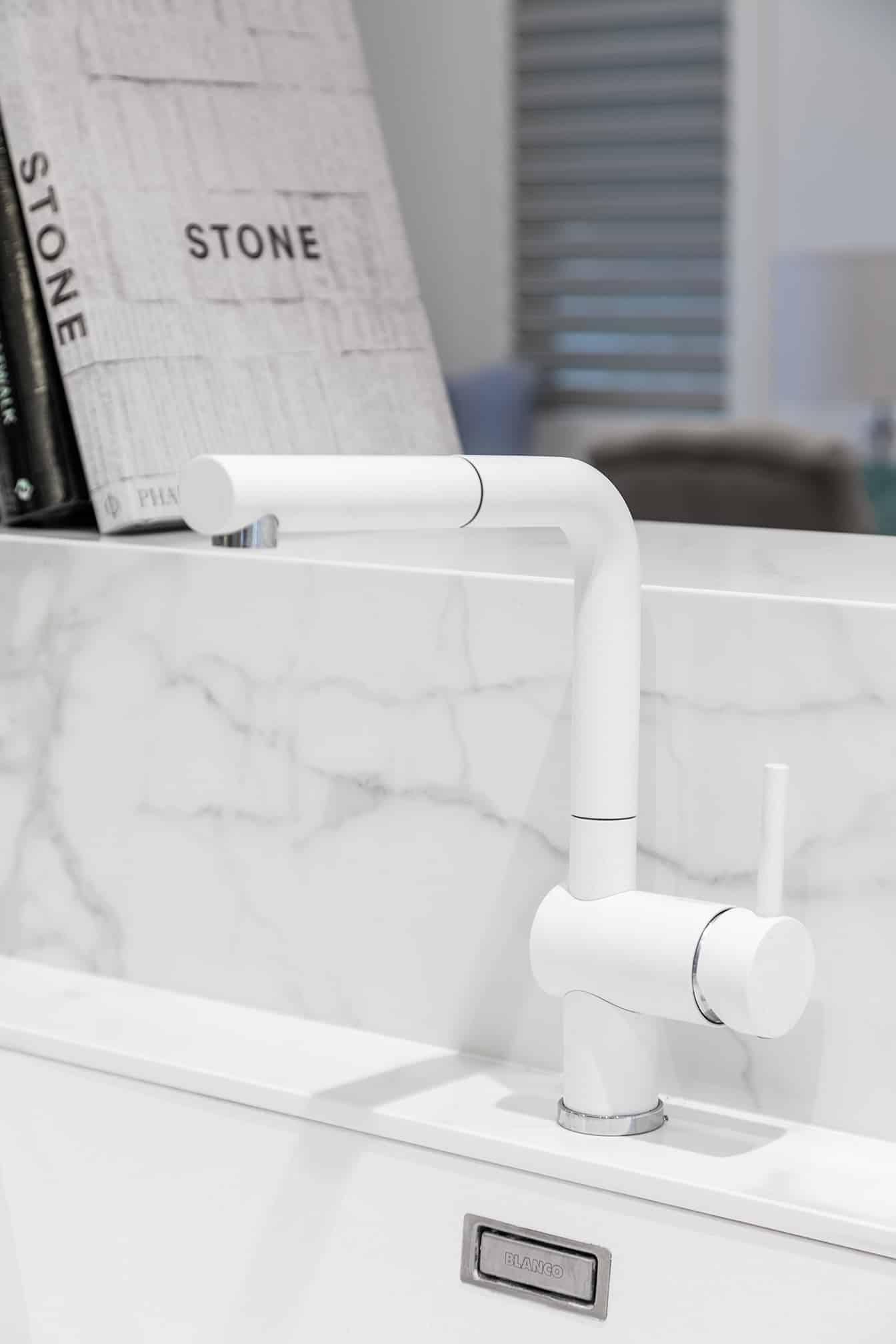 Joondanna Hamptons Kitchen tap and backsplash