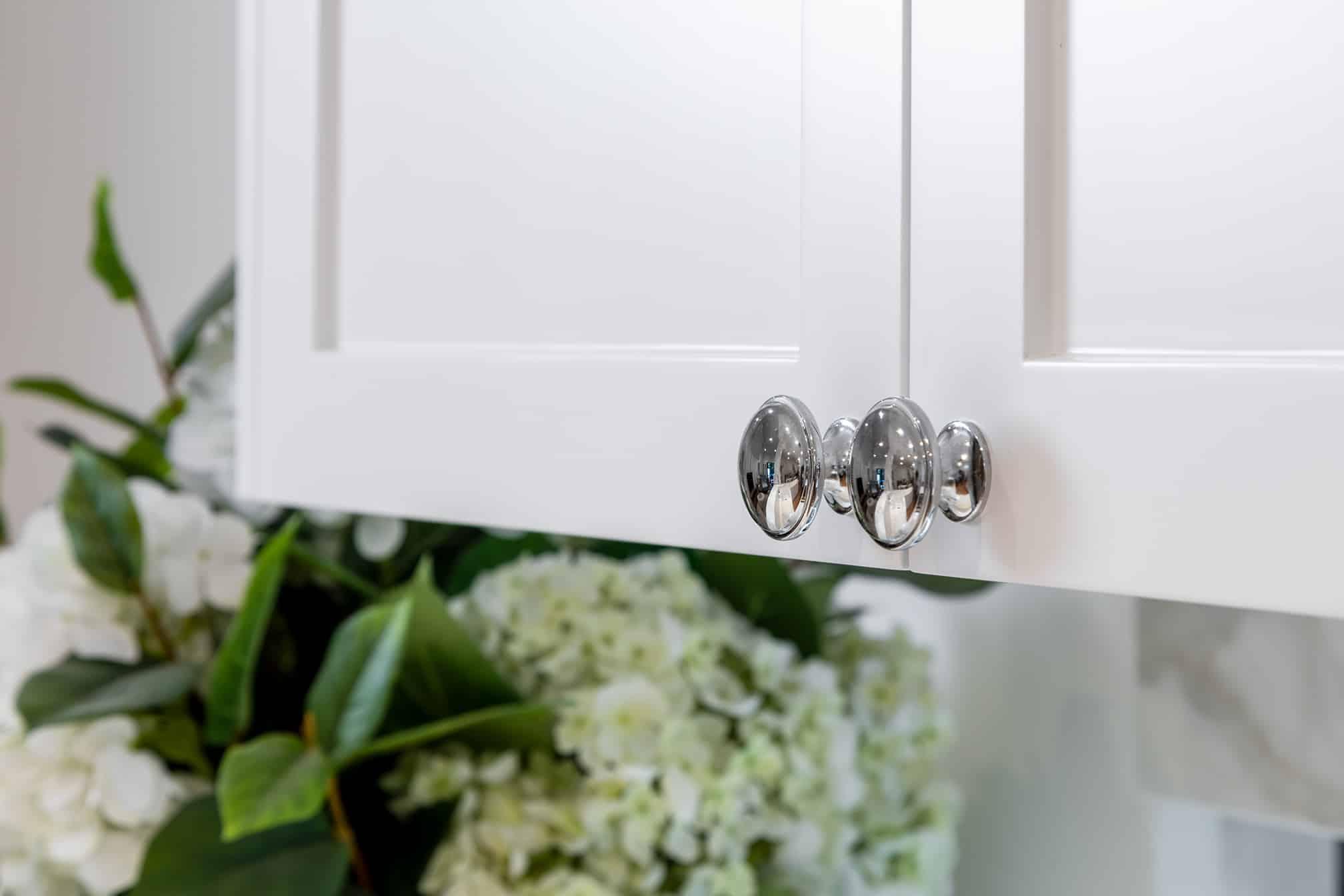 Joondanna Hamptons Kitchen cabinetry and handles