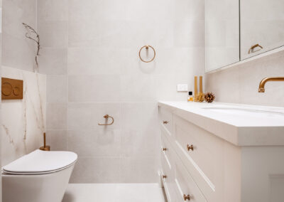 Mount Lawley Traditional Skylit Ensuite - Vanity and toilet