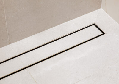 Mount Lawley Traditional Skylit Ensuite - Strip drain with tile insert