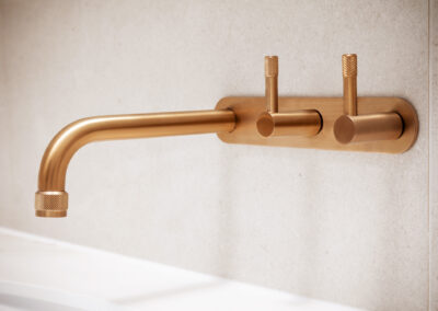 Mount Lawley Traditional Skylit Ensuite - Close up of brass tapware 2