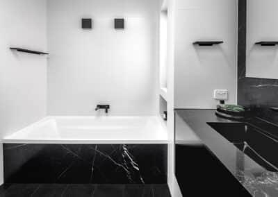 Monochrome Main Bathroom bath