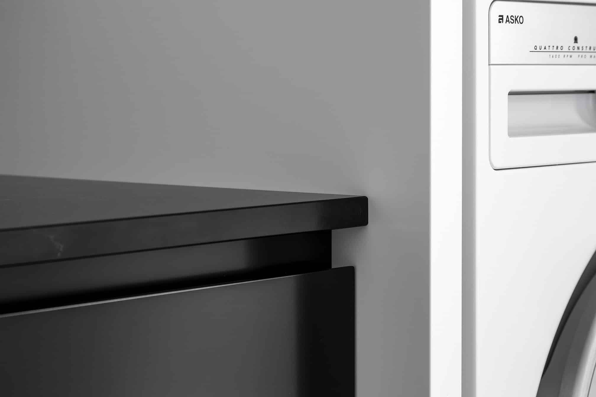 Monochrome Laundry cabinetry details