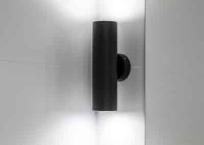 Monochrome Ensuite black wall sconce
